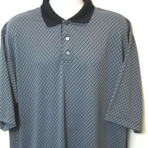 Haggar  Polo Golf Shirt Cool Performance Mens XL T